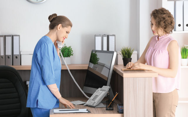 eye clinic receptionist positions